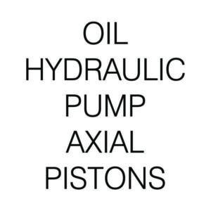 OIL HYDRAULIC PUMP AXIAL PISTONS